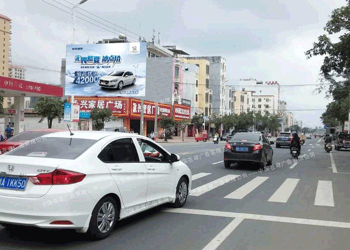 东风路墙广告(喷绘)