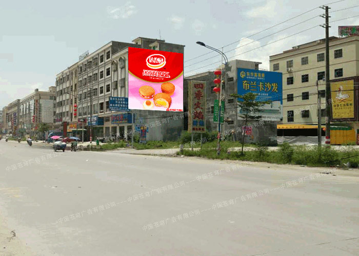 达利园路墙广告(喷绘)