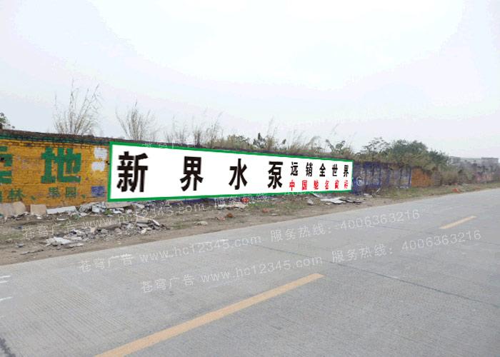新界水泵路墙广告(手绘)