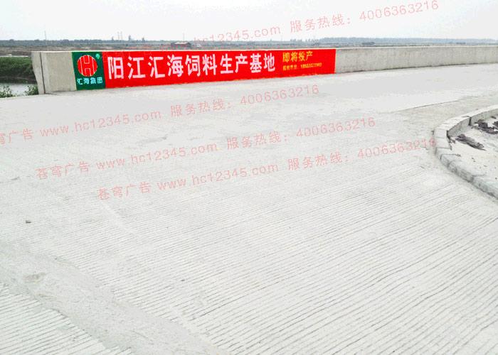 汇海饲料路墙广告(手绘)