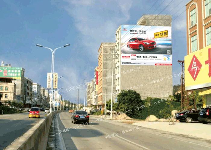 汽车路墙广告(喷绘)
