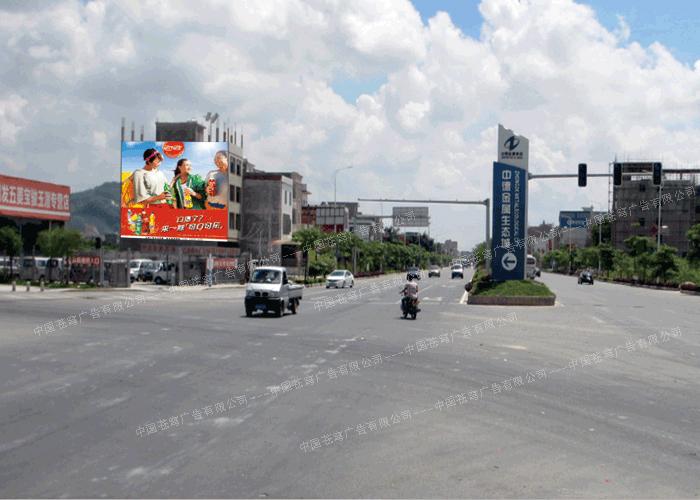 可口可乐路墙广告(喷绘)