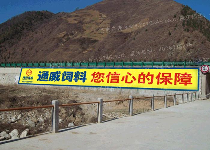 通威饲料路墙广告(手绘)